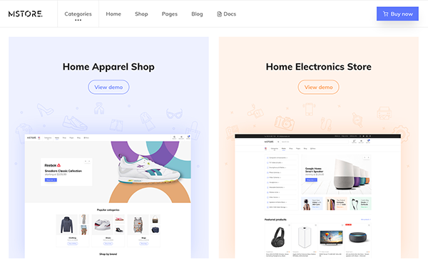 m store modern e commerce template wrapbootstrap