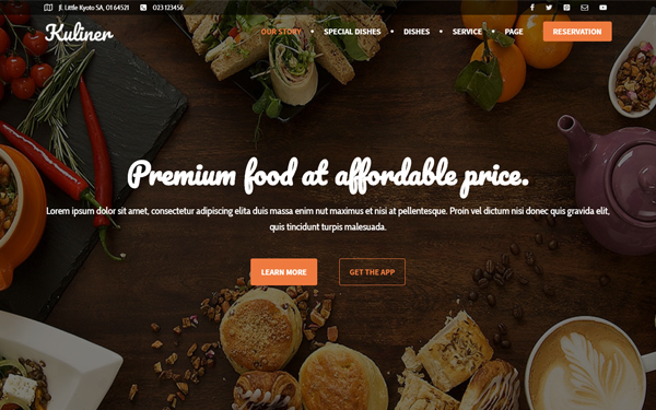 DOWNLOAD - Kuliner - Restaurant Landing Page
