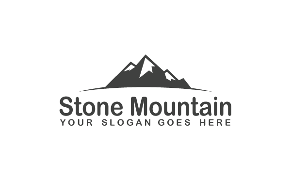 stone mountain logo template by kazierfan wrapbootstrap