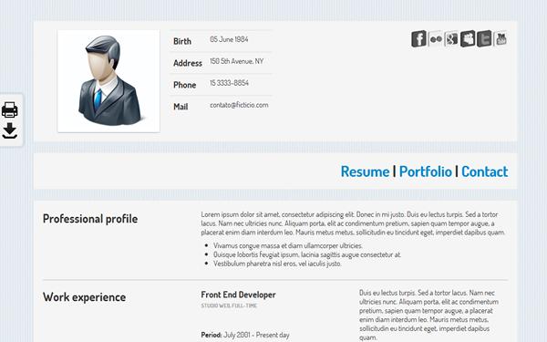 KO CV | Resumes & CV | WrapBootstrap - Bootstrap Themes ...