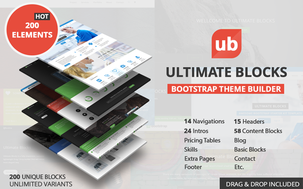 Ultimate Blocks - Theme Builder - Live Preview - WrapBootstrap