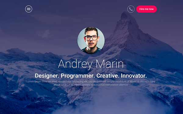 MyWALL - HTML Resume Portfolio - Live Preview - WrapBootstrap