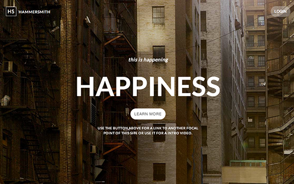 Hammersmith Responsive Web Template