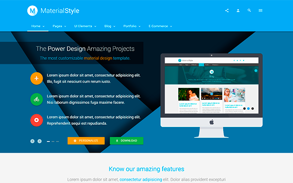 Material Style Material Design For All By Agmstudio Wrapbootstrap