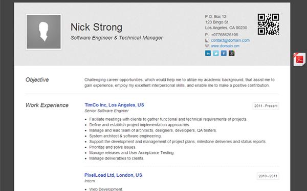 tomana minimalistic cv resume theme resumes cv