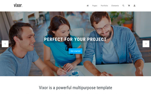 Google maps themes wrapbootstrap vixor responsive website template pronofoot35fo Gallery