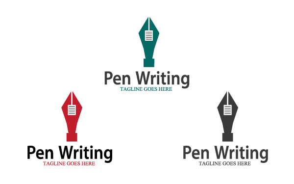 Pen Writing Logo Template