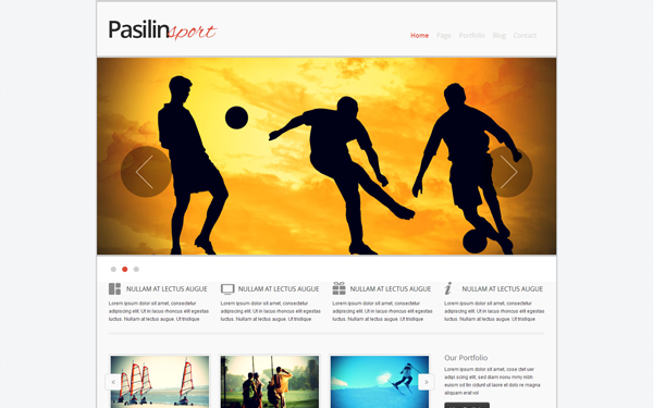 Pasilin Sport - Responsive Template | Business & Corporate ...