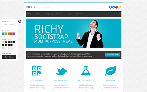 Richy multipurpose bootstrap theme business corporate richy multipurpose bootstrap theme flashek Images