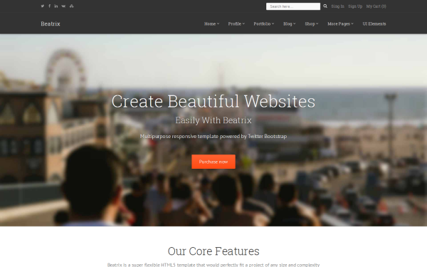 Beatrix - Multipurpose Responsive Theme - Live Preview - WrapBootstrap