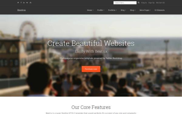 Bardcrack Soluciones Integrales. Desarrollo de plataformas Web, tiendas en linea y mas. Plantilla Web Beatrix - Multipurpose Responsive Theme - Live Preview - WrapBootstrap