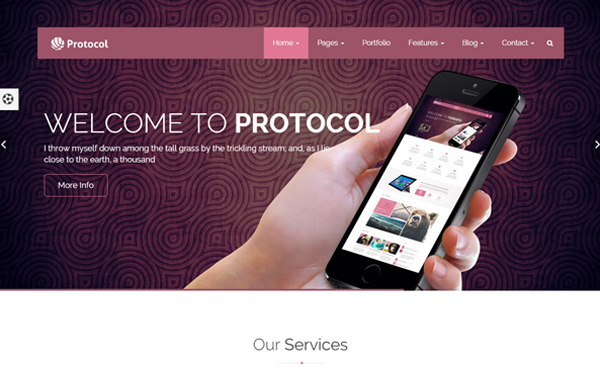 Protocol Multipurpose Corporate Template - Live Preview - WrapBootstrap