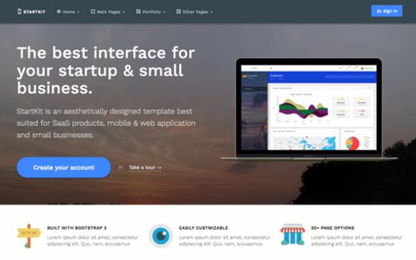 Startkit startup business theme wrapbootstrap startkit startup business theme friedricerecipe Gallery