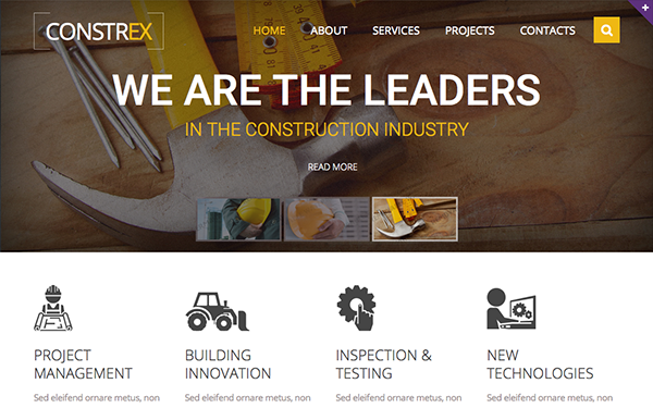 DOWNLOAD - Constrex - Responsive Website Template