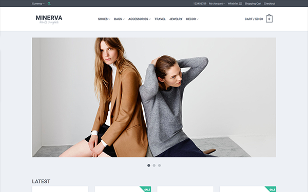 Minerva - Responsive eCommerce Template - Live Preview - WrapBootstrap