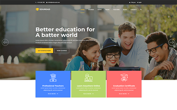 DOWNLOAD - EduRead - Education HTML5 Template