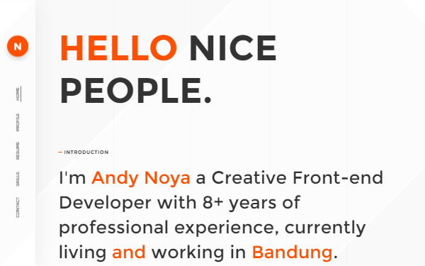 NOYA - One Page Personal Theme - Live Preview - WrapBootstrap