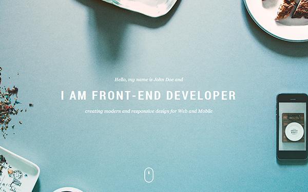 Aurora | One-Page Creative Portfolio