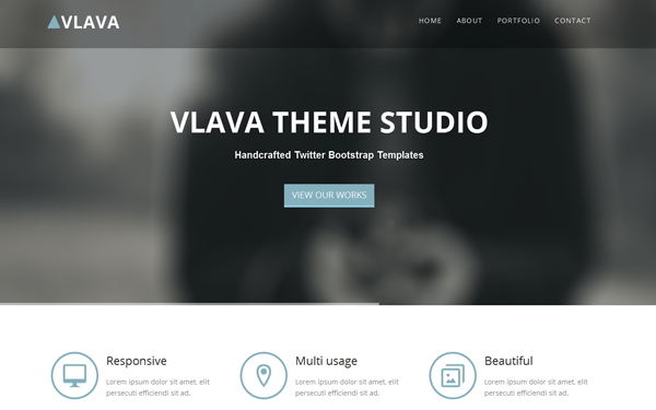 Vlava - One Page Responsive Template - Live Preview - WrapBootstrap