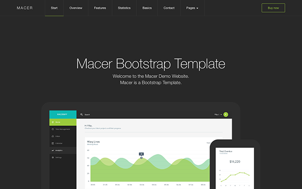 Macer - App Landing Page Template - Live Preview - WrapBootstrap
