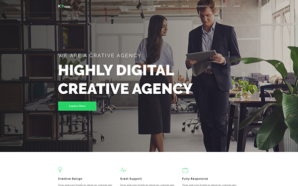 DOWNLOAD - K7 - Responsive Website Template
