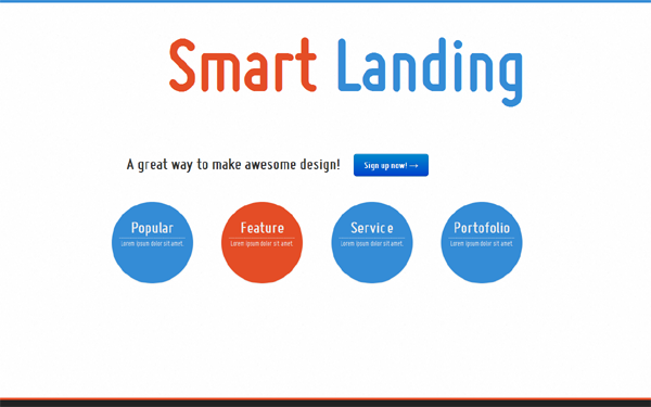 Simple Smart Landing Page Landing Pages WrapBootstrap - Simple landing page template