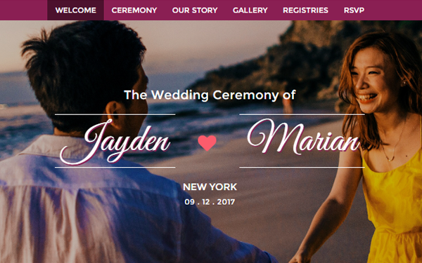LOVIN - Wedding Invitation Template - Live Preview - WrapBootstrap