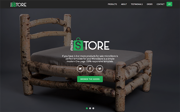 microStore - OnePage E-Commerce Template