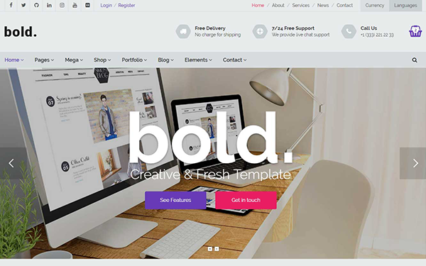 Bold - Multipurpose Template - Live Preview - WrapBootstrap