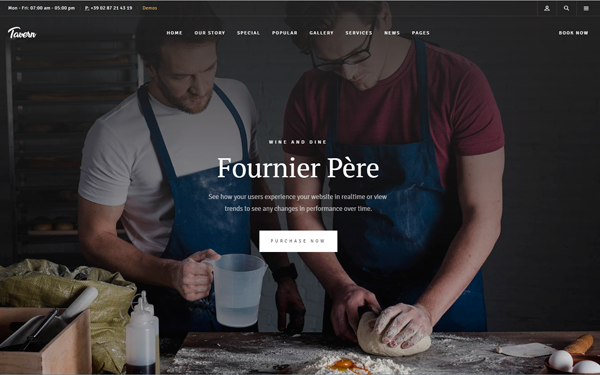 Leaff - Premium Restaurant Theme - Live Preview - WrapBootstrap