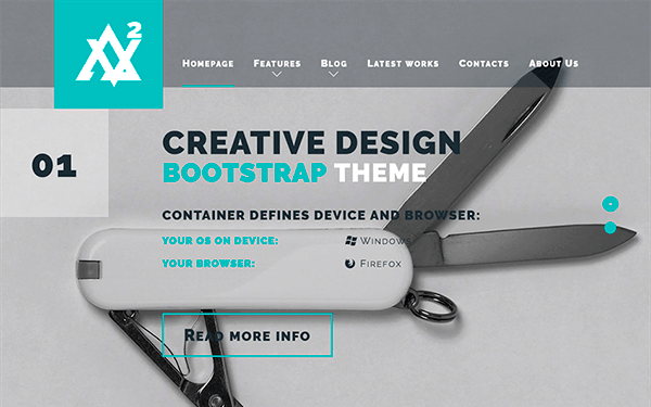 Avellio - Creative Bootstrap Theme - Live Preview - WrapBootstrap