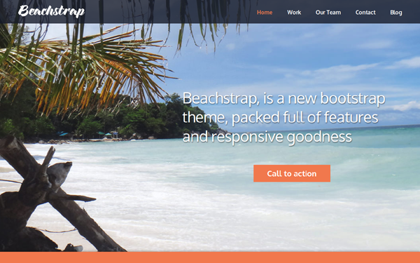 Beachstrap One Page Parallax Template - Live Preview - WrapBootstrap