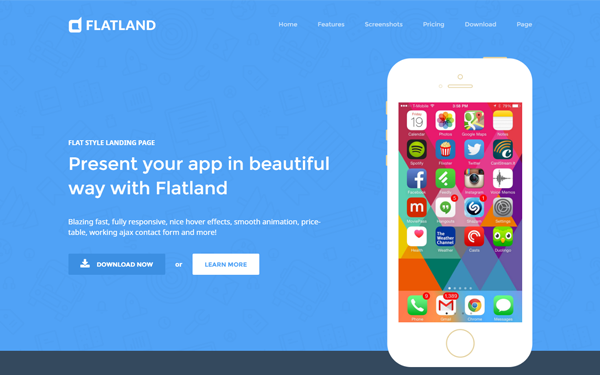 DOWNLOAD - Flatland Responsive Flat Design Template