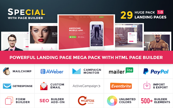 DOWNLOAD - Special - Landing Page Pack HTML Builder