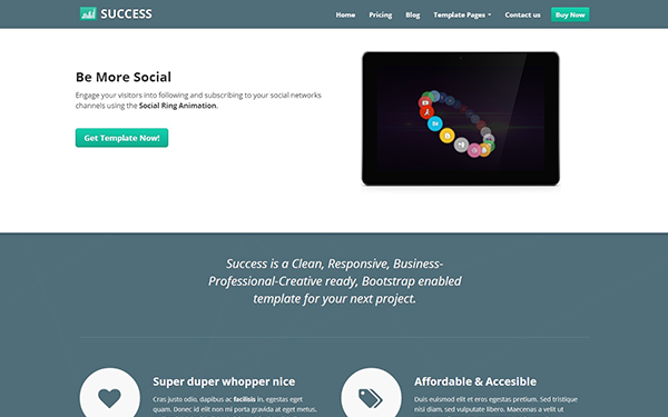 Success - Responsive Business Template