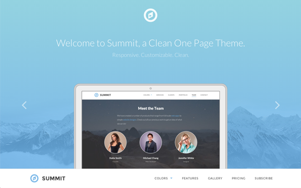 Summit - One Page Responsive Theme - Live Preview - WrapBootstrap