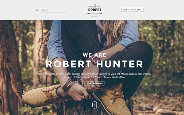 Hunter - Hipster E-Commerce Theme - Live Preview - WrapBootstrap