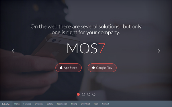 Mos7 - Responsive App Landing Page - Live Preview - WrapBootstrap