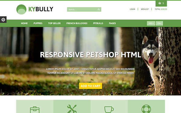 KYBully - Pet Store eCommerce HTML Theme - Live Preview - WrapBootstrap