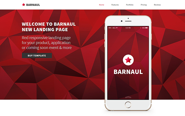 Barnaul - Strong Landing Pages - Live Preview - WrapBootstrap