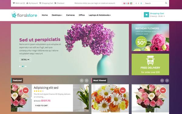 DOWNLOAD - Pav Floral OpenCart Theme » Website Templates