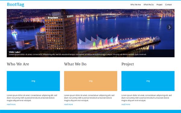 Bootflag responsive company profile