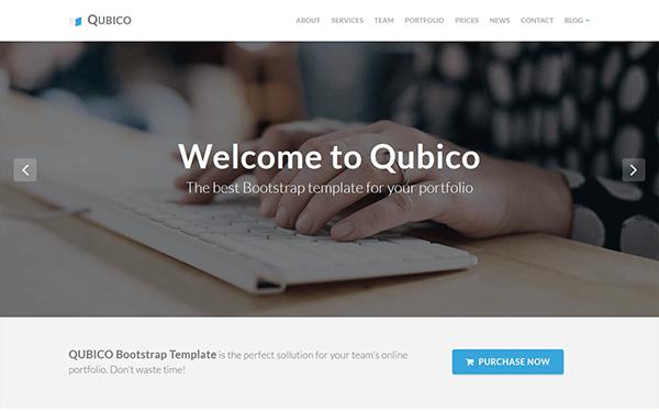 Qubico | Creative Portfolio & Blog - Live Preview - WrapBootstrap