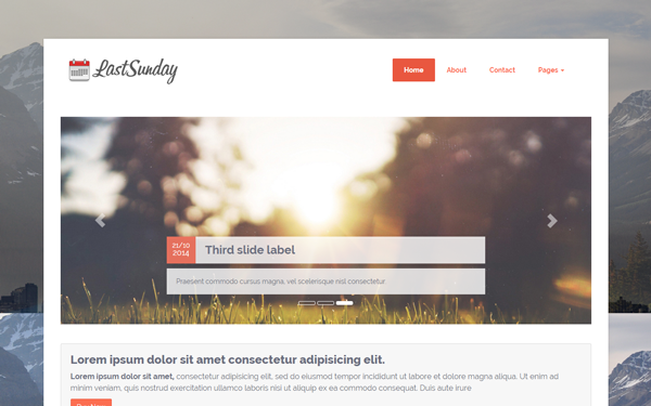 Last Sunday - Responsive Blog Theme - Live Preview - WrapBootstrap