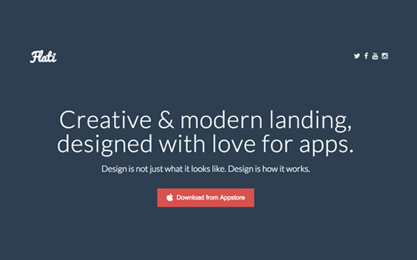 Flati - Responsive App Landing - Live Preview - WrapBootstrap