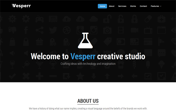 Vesperr - One Page Parallax Template