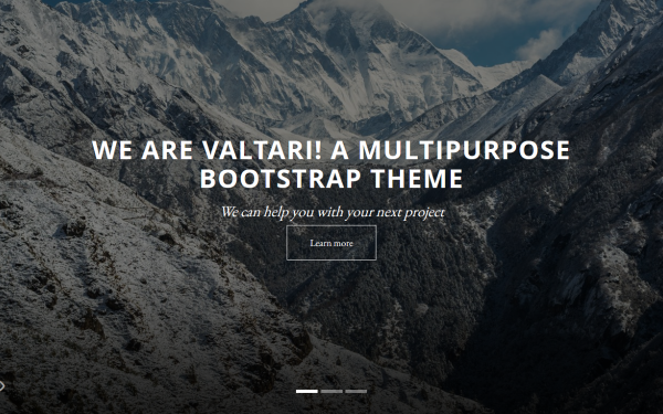 Valtari - Multipurpose Theme