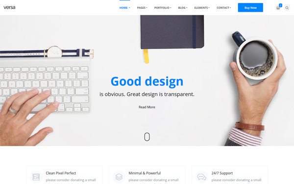 Versa - Clean Minimal Multipurpose Template