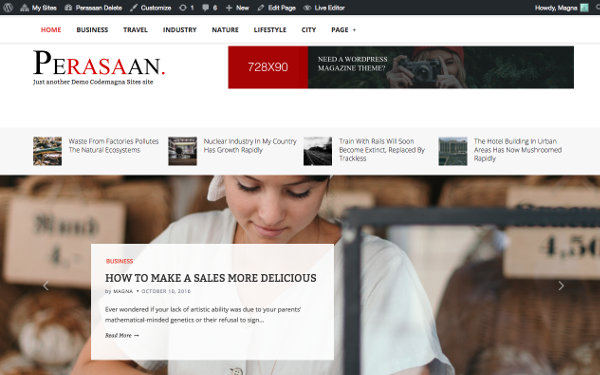 Perasaan - Magazine WordPress Theme