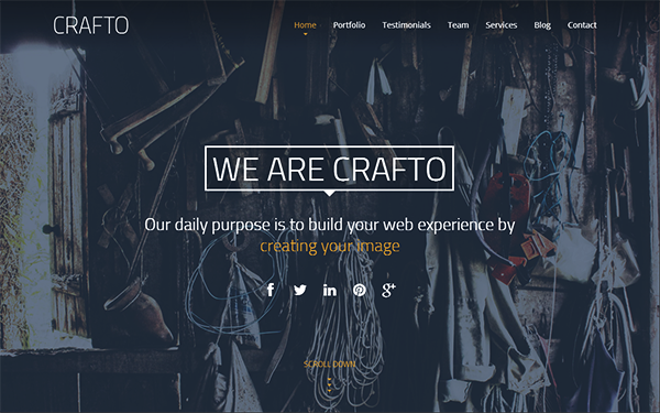 Crafto - One Page Responsive Template - Live Preview - WrapBootstrap